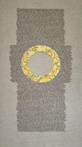 Gekalligrafeerde Karmelregel door Arie Trum